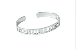 Invisible Invicible Bracelet Silver