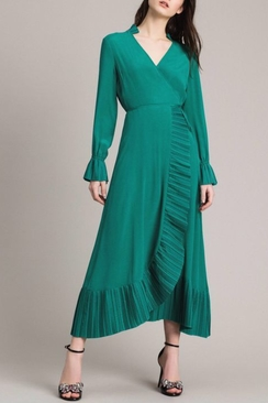 Silk blend wrap dress