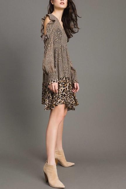 Animal Print Georgette Dress