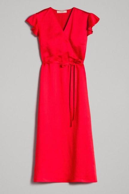 Envers Satin Linen Long Dress