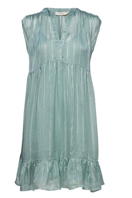 Eliza Lurex Stripe Short Dress