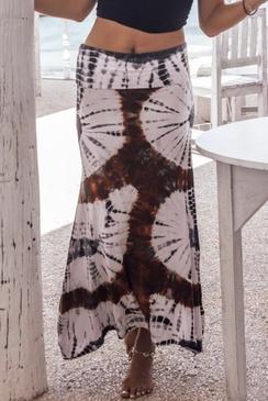 Tricot Skirt Tie Die