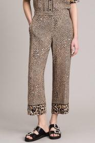 Animal Print Crêpe Trousers