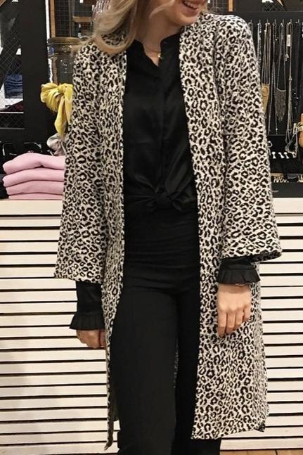 Black Leopard Coat