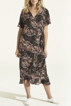 Piper Frill Wrap Dress Congo