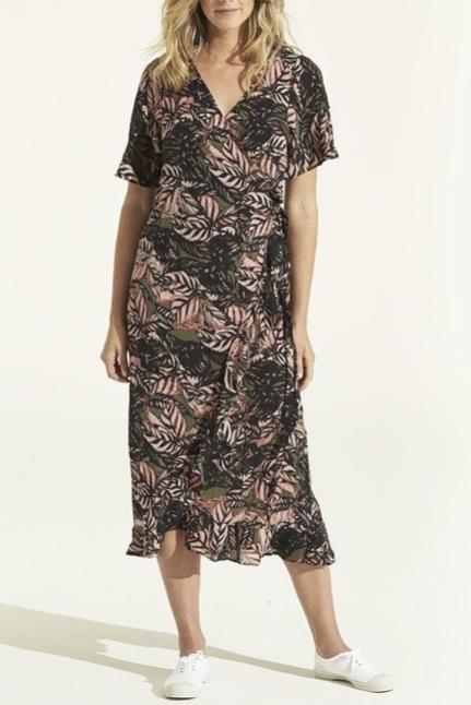 Piper Frill Wrap Dress Congo