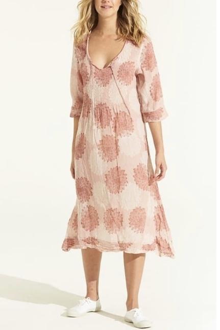 Sicily Terracotta Marilyn Dress