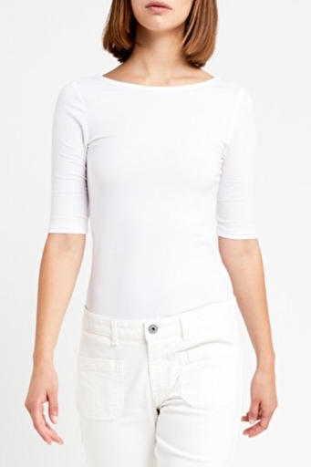 Cotton T-Shirt With Round Neckline