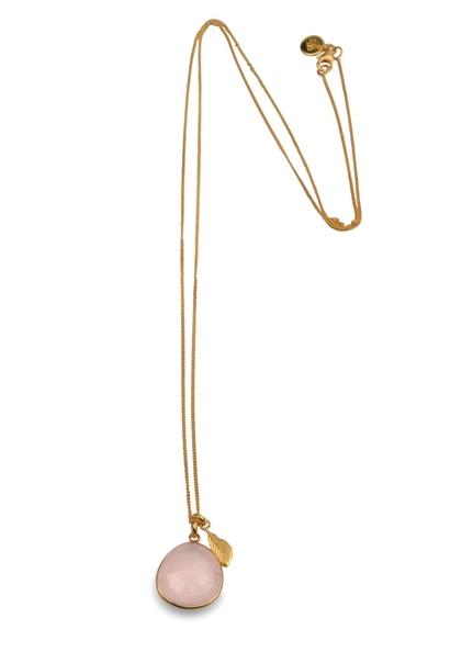 Glam Glam Necklace Gold Rose Quartz