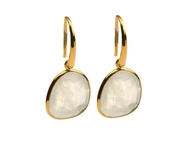 Glam Glam Earrings Gold Moonstone