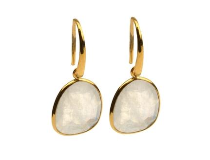 Glam Glam Earrings Gold Moonstone