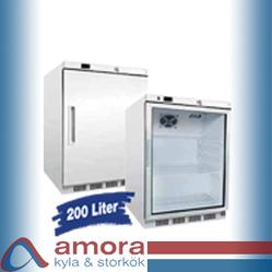Kylskåp m. el utan glasdörr, 600 x 585 x 855 mm, ventilerad kylning