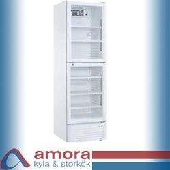 Kylskåp med delad glasdörr,  LG4-386A2P, 600 x 590 x 1970 mm