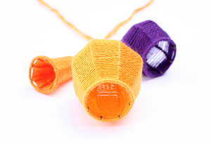 Bells and Baskets: Yellowpurple Neckpiece, 2013