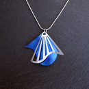 Radiating Swirl Pendant Blue