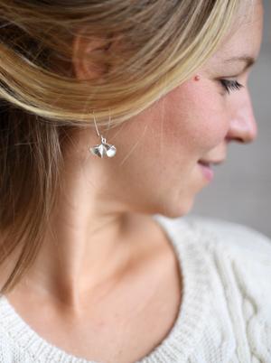 Fingerprint Pods Triplet Dangle Earrings