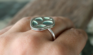 Patterns Organic Leaf Ring