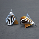 Radiating Swirl Earrings Hazel