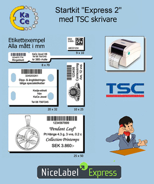 "36 månaders leasing Startkit ""Express 2"" med TSC skrivare  men utan streckkodsskanner"