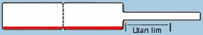Ringetikett 10x72 mm, vit högglans med röd kant