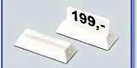 Etiketthållare 18 mm med rak slits, vit