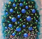 Blåbär - konstkort