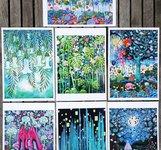 7 st konstkort