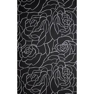 Zasłona łazienkowa ROSES LINE czarna