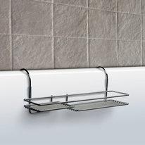 Półka łazienkowa na wannę boczna chrom