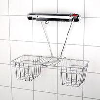 Półka łazienkowa pod baterię chrom