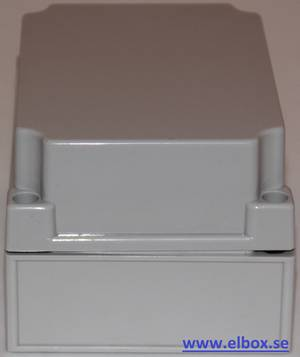 Plastic enclosure with grey cover 125X175X100mm