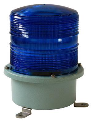 Blue flashing light 230V large