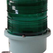 Green flashing light 230V large