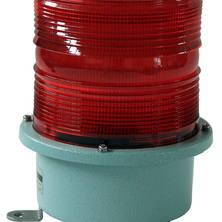 Red flashing light 230V large