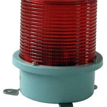 Red flashing light 230V medium