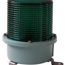 Green flashing light 230V medium