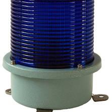 Blue flashing light 230V medium