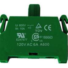 Extra contact block for SCB3 or SCB4, normally open