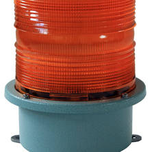 Orange blixtljus 230V större