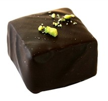 Chokladpralin - Pistagemarsipan-Cognacstryffel