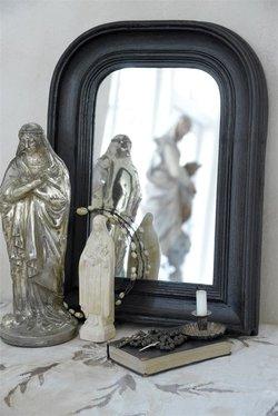 Fransk spegel, svart 40 * 30 cm