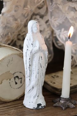 Madonnafigur 15 cm vit