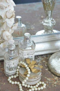 Fransk spegel, silver 60 * 90 cm