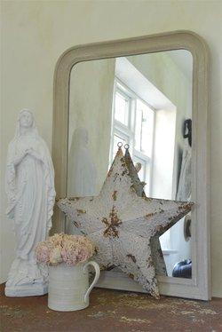 Ranskalainen peili, kermanvalkoinen 60 * 90 cm