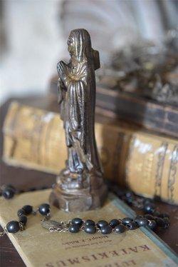 Madonnafigur 15 cm guldfärgad