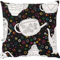 Cushion Cover We drink tea and learn the letter e