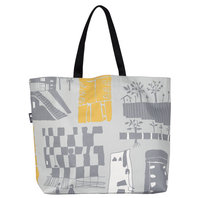 Oilcloth Shopping Bag All cats are grey in the dark