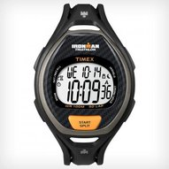 Timex - IRONMAN® Sleek 50-Lap Full size Black/orange