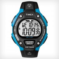 Timex - IRONMAN® Traditional 30-Lap Full size Black Bright Blue