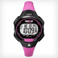 Timex - IRONMAN® Traditional 10-Lap Mid size Dark Black/Bright Pink